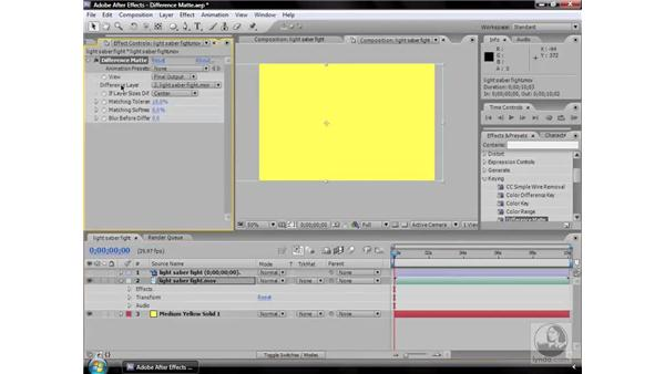 Difference Matte effect: After Effects CS3 Effects