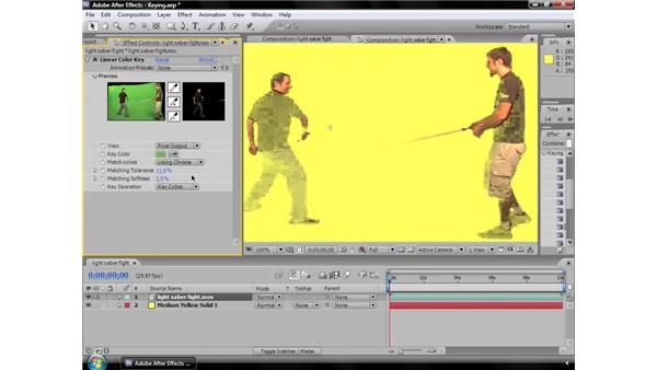 Linear Color Key effect: After Effects CS3 Effects