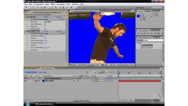 Matte Choker effect: After Effects CS3 Effects