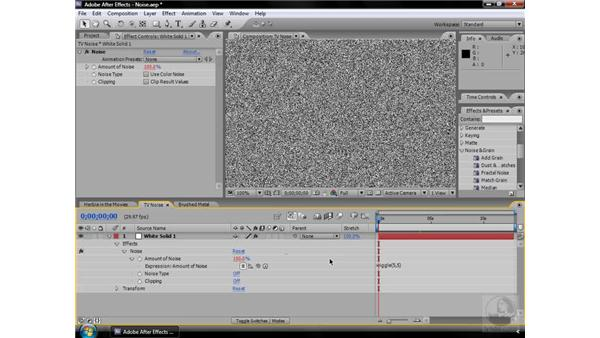 Noise effect: After Effects CS3 Effects
