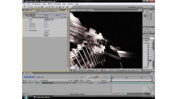 Noise HLS effect: After Effects CS3 Effects