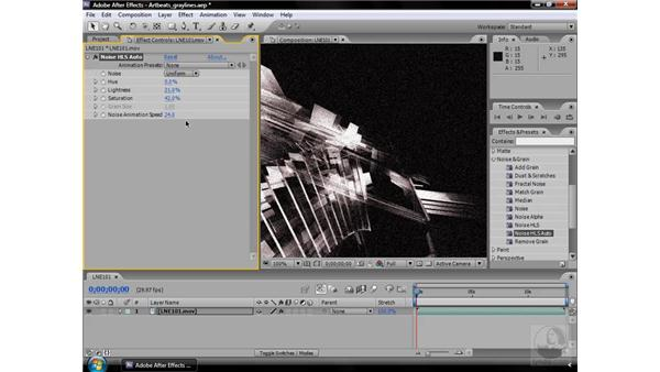 Noise HLS Auto effect: After Effects CS3 Effects