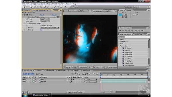 About Perspective effects: After Effects CS3 Effects