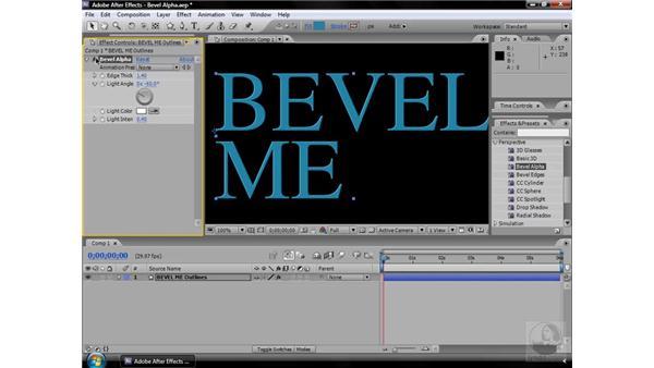 Bevel Alpha effect: After Effects CS3 Effects
