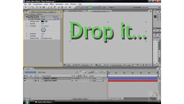Drop Shadow effect: After Effects CS3 Effects