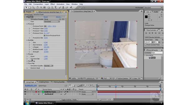 Foam effect: After Effects CS3 Effects