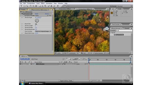 Brush Strokes effect: After Effects CS3 Effects
