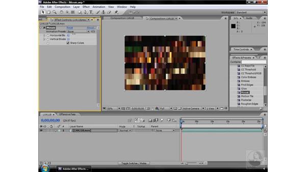 Mosaic effect: After Effects CS3 Effects