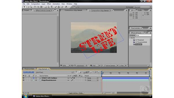 Threshold effect: After Effects CS3 Effects