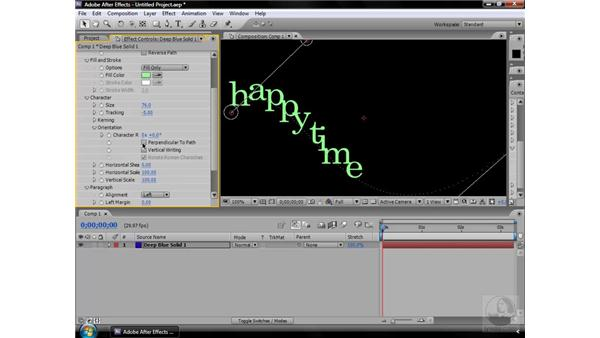 Path Text effect: After Effects CS3 Effects