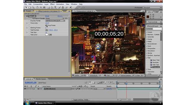 Timecode effect: After Effects CS3 Effects