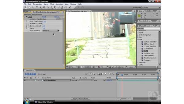 Echo effect: After Effects CS3 Effects