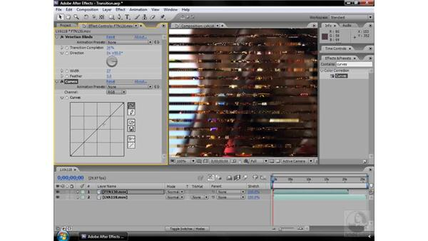 Venetian Blinds effect: After Effects CS3 Effects