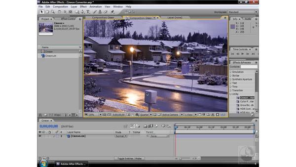 Cineon Converter effect: After Effects CS3 Effects
