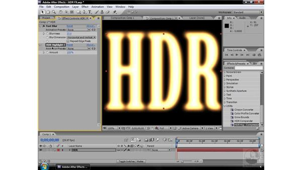 HDR Highlight Compression effect: After Effects CS3 Effects