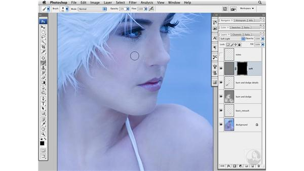 Softening skin with the High Pass filter: Photoshop CS3 Portrait Retouching Techniques