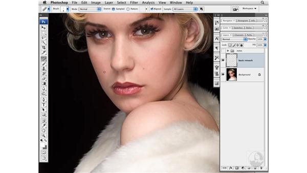 Basic cleanup: Photoshop CS3 Portrait Retouching Techniques