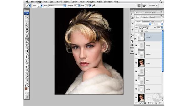 Adding contour : Photoshop CS3 Portrait Retouching Techniques