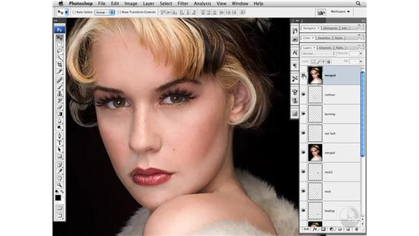 Adding local contrast: Photoshop CS3 Portrait Retouching Techniques