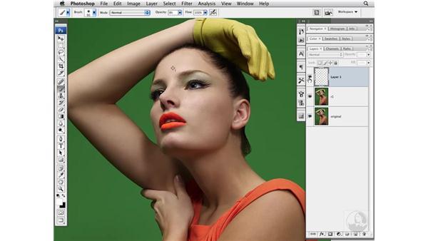 Enhancing the image with Burn and Dodge: Photoshop CS3 Portrait Retouching Techniques