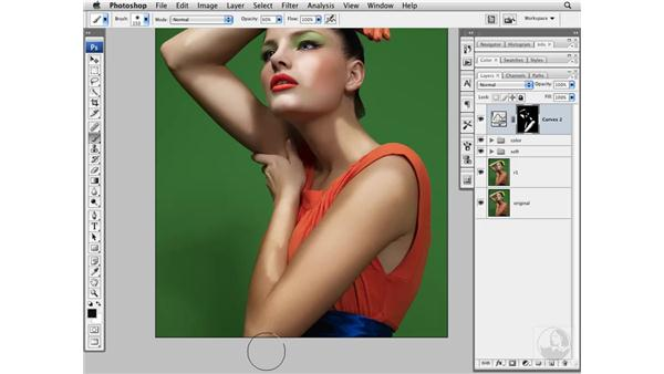 Adding shape with Burn and Dodge: Photoshop CS3 Portrait Retouching Techniques