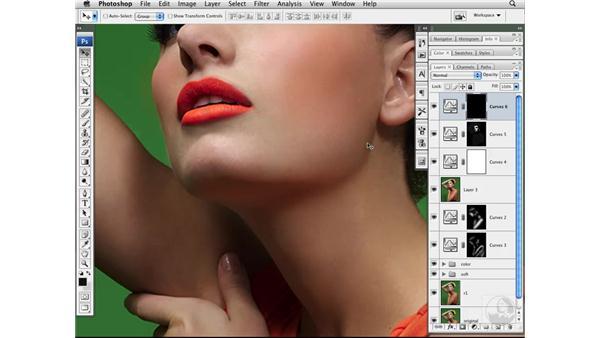 Adding shape with curves and masking: Photoshop CS3 Portrait Retouching Techniques