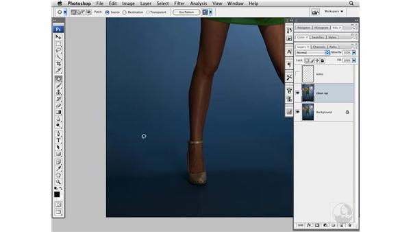 Cleaning up the background: Photoshop CS3 Portrait Retouching Techniques