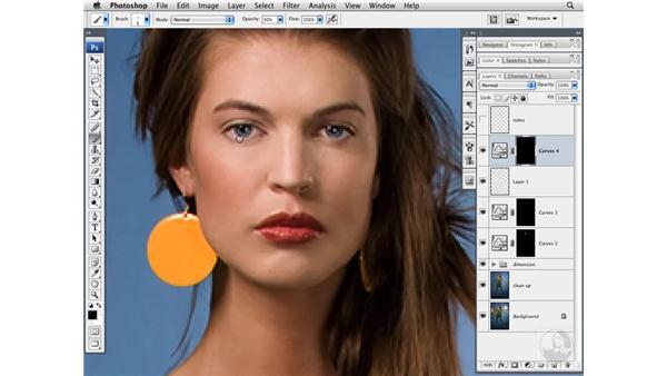 Modifying eye brightness and color: Photoshop CS3 Portrait Retouching Techniques