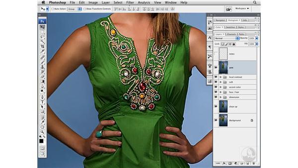 Sharpening the image: Photoshop CS3 Portrait Retouching Techniques