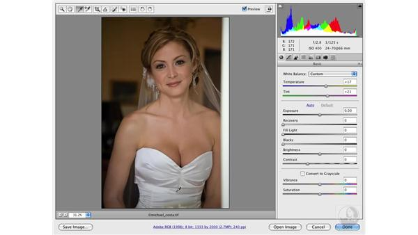 Correcting white balance with Camera Raw: Photoshop CS3 Portrait Retouching Techniques