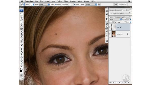 Cleaning up small details: Photoshop CS3 Portrait Retouching Techniques