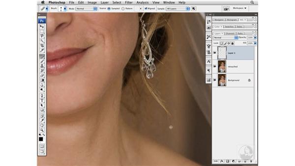 Cleaning up hair: Photoshop CS3 Portrait Retouching Techniques