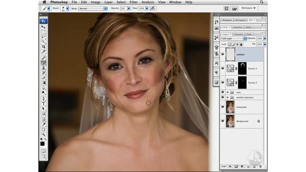 Adding contour to the face: Photoshop CS3 Portrait Retouching Techniques