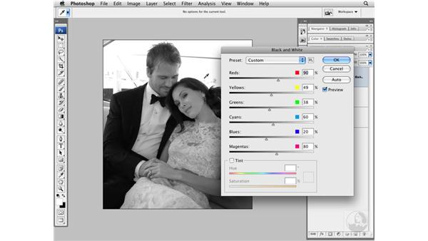 Converting to black and white: Photoshop CS3 Portrait Retouching Techniques