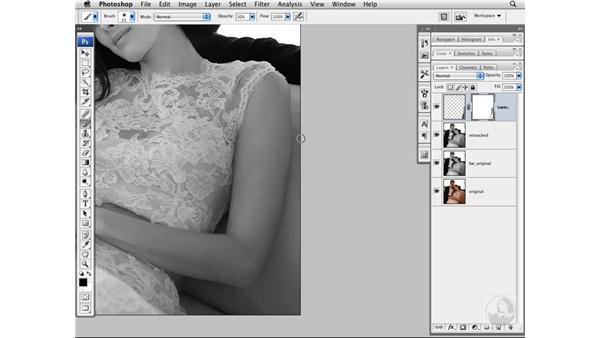 Thinning the arm: Photoshop CS3 Portrait Retouching Techniques