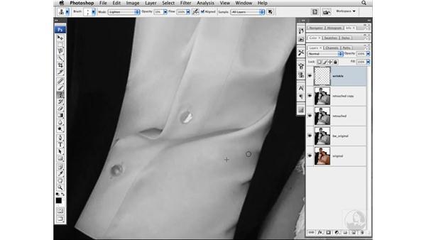 Reducing wrinkles: Photoshop CS3 Portrait Retouching Techniques