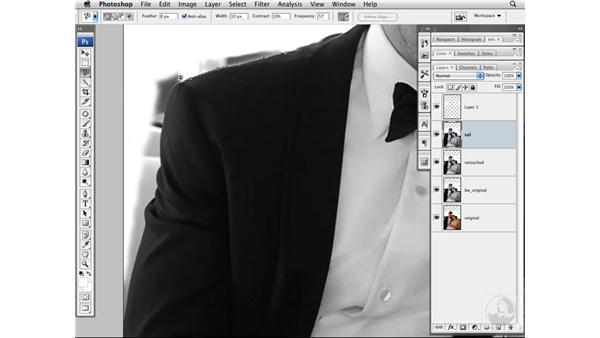 Removing background elements: Photoshop CS3 Portrait Retouching Techniques