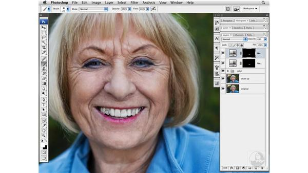 Brightening teeth: Photoshop CS3 Portrait Retouching Techniques
