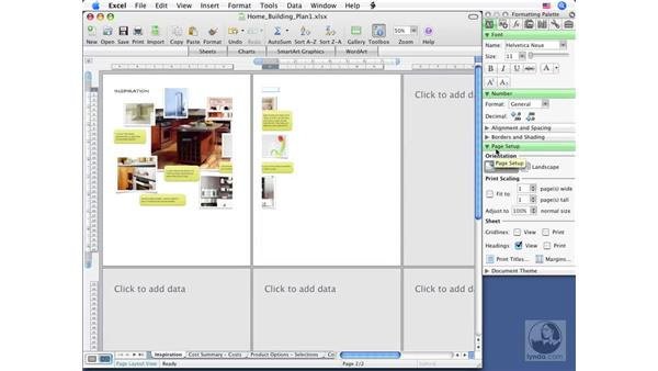 Sheets vs. pages: Excel 2008 for Mac Essential Training