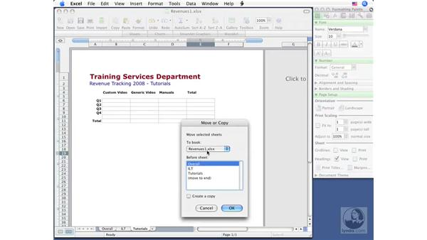 Copying and moving sheets : Excel 2008 for Mac Essential Training