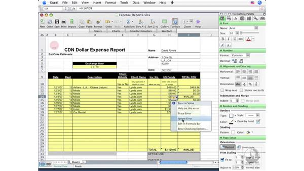 Understanding cell references: Excel 2008 for Mac Essential Training