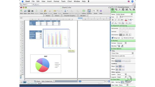 Modifying charts: Excel 2008 for Mac Essential Training