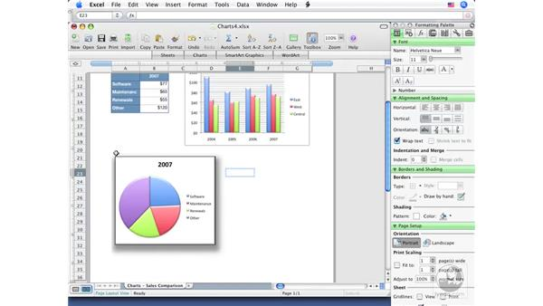 Advanced chart formatting: Excel 2008 for Mac Essential Training