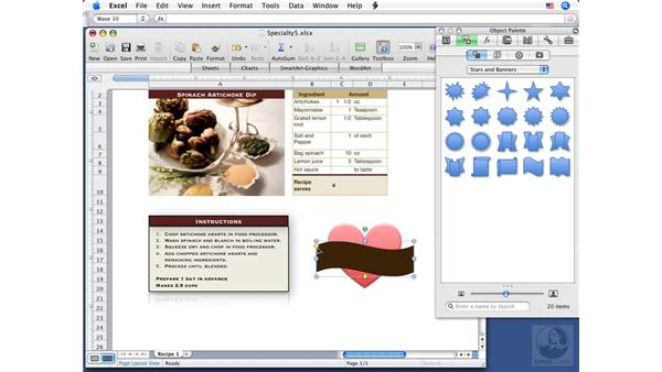 Working with shapes: Excel 2008 for Mac Essential Training