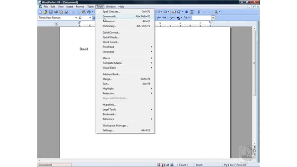 Exploring the interface: Getting Started with WordPerfect Office X4