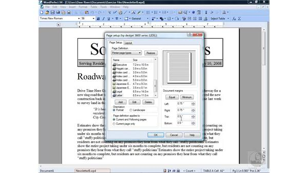 Formatting documents and pages: Getting Started with WordPerfect Office X4