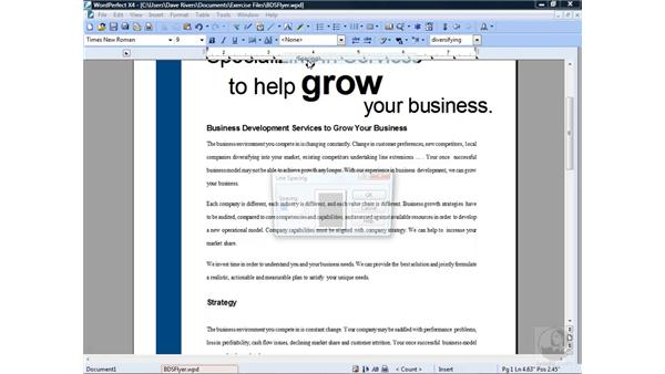 Formatting text and paragraphs: Getting Started with WordPerfect Office X4