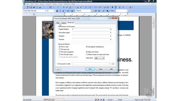 Printing files: Getting Started with WordPerfect Office X4