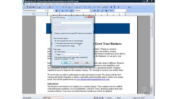 Importing PDF files: Getting Started with WordPerfect Office X4