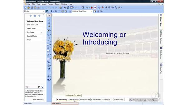 Creating a slideshow : Getting Started with WordPerfect Office X4
